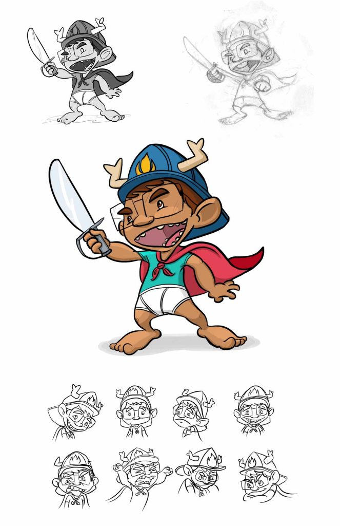 Luco Cartoon Character