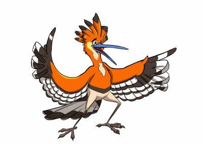 orange bird design